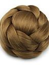 Brun Klassisk Chic och modern Hårknut updo Hög kvalitet Chinjonger Syntetiskt hår Hårstycke HÅRFÖRLÄNGNING Klassisk Chic och modern