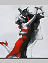 HANDMÅLAD Människor Fyrkantig, Moderna Duk Hang målad oljemålning Hem-dekoration En panel