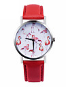 Women\'s Quartz Wrist Watch Casual Watch Leather Band Elegant Fashion White Red