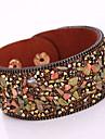Dame Bratari Wrap Bratari din piele La modă Bohemia Stil Adorabil costum de bijuterii Piele  Ștras Aliaj Geometric Shape Bijuterii Pentru