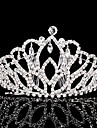 Rhinestone Tiaras Headwear with Floral 1pc Wedding Special Occasion Headpiece