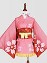 Inspirado por Cosplay Cosplay Anime Disfraces de cosplay Trajes Cosplay / Kimono Estampado Panuelo / Yukata / Tocados Para Mujer