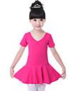 رقص الباليه الفساتين التدريب قطن روش كم قصير ارتفاع متوسط فستان
