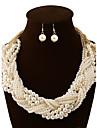 Dame Seturi de bijuterii Colier / cercei Bijuterii Statement European Multistratificat Perle Coliere Σκουλαρίκια Pentru PetrecereCadouri
