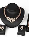 Pentru femei Coliere cu Pieptar Set bijuterii - Africa Include Lănțișor / Cercei / Brățară Argintiu / Auriu Pentru Nuntă / Petrecere / Zilnic / Inel / Inele / Σκουλαρίκια