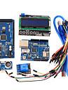 instrumente de învățare mega 2560 r3 bord + Ethernet w5100 + releu + cablu breadboard + hc-SR04 Kit senzor pentru Arduino