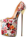 Pentru femei Pantofi PU Primăvară / Toamnă Tocuri Toc Stilat / Platformă Rosu / Culoarea pielii / Curcubeu / Party & Seară / Rochie