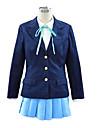 Inspirerad av K-ON Hirasawa Yui Animé Cosplay-kostymer cosplay Suits Skoluniformer Enfärgad Långärmad Kravatt Kappa Skjorta Kjol Till Dam