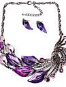 Pentru femei Set bijuterii - Vintage, Modă, Declarație Include Colier / cercei Mov / Verde / Albastru Pentru Nuntă / Petrecere / Zilnic / Casual / Σκουλαρίκια / Coliere