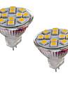 2 W 150-200 lm GU4(MR11) Becuri LED Bi-pin MR11 12 LED-uri de margele SMD 5050 Decorativ Alb Cald / Alb Rece 12 V / 2 bc / RoHs