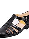 Bărbați Pantofi Piele Vară Sandale Plimbare Negru