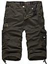 Bărbați Larg Vintage Simplu Activ Talie Medie,Inelastic Pantaloni Scurți Pantaloni Mată
