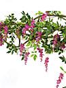 1 1 ramură Mătase Violet Flori Perete Flori artificiale 200CM