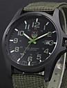 Heren Militair horloge Kwarts Zwart / Blauw Kalender Analoog Informeel - Groen Blauw WiZwart Een jaar Levensduur Batterij / Roestvrij staal / SSUO 377