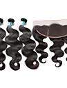 Cheveux Bresiliens Ondulation naturelle Trame cheveux avec fermeture 3 paquets avec fermeture 8-26pouce Tissages de cheveux humains 4x13