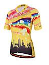 Miloto Maillot de Cyclisme Femme Manches Courtes Velo Chemise Shirt Maillot Hauts/Top Sechage rapide Permeabilite a l\'humidite Zip