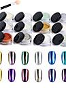 1pcs noktiju srebrna art ogledalo u prahu krom pigment s alata za odabir prahu olovka za manikuru DIY