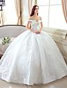 mingea rochie off-the-umăr podea lungime dantelă rochie de mireasa cu model de yuanfeishani