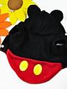 Katt Hund Dräkter/Kostymer Huvtröjor Outfits Hundkläder Gulligt Cosplay Tecknat Röd Kostym För husdjur