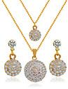 Pentru femei Set bijuterii - Include Seturi de bijuterii de mireasă Auriu Pentru Nuntă