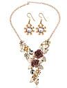 Pentru femei Set bijuterii - Include Seturi de bijuterii de mireasă Auriu Pentru Nuntă / Petrecere
