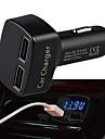 multifuncțional cu dublă USB încărcător auto cu afișaj pentru temperatura de tensiune Amper