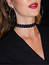 Pentru femei Coliere Choker tatuaj cravată  -  Stil Tatuaj Modă European Circle Shape Negru Bej Coliere Pentru Petrecere Zilnic Casual
