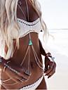 Pentru femei Bijuterii de corp Corp lanț / burtă lanț Colier ham Design Basic Bikini Personalizat costum de bijuterii Strat dublu