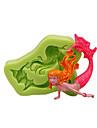 Instrumente de coacere Silicon Ecologic / #D / Reparații Tort / Plăcintă / Ciocolatiu Animal coacere Mold 1 buc