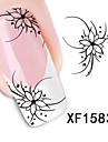 1pcs Vattenövergångsklistermärke Blomma Mode Dagligen Hög kvalitet