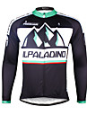 ILPALADINO Maillot de Cyclisme Homme Manches Longues Velo Maillot Sechage rapide Resistant aux ultraviolets Respirable Bandes