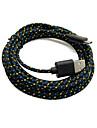 rechin vechi ™ 2 cutii 2m 6ft micro USB de încărcare și sincronizare de date Țesături cord cablu împletit țesute pentru Samsung negru