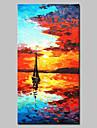 Pictat manual Peisaj Vertical, Stil European Modern pânză Hang-pictate pictură în ulei Pagina de decorare Un Panou