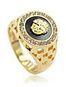 Bărbați Pentru femei Inele Afirmatoare Personalizat bijuterii de lux costum de bijuterii Ștras Aliaj Animal Shape Leu Bijuterii Pentru