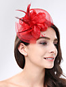 Pluma / Red Fascinators / Para la Cabeza con Flor 1pc Boda / Ocasion especial Celada