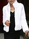 Pentru femei Stand Scurt Trenci Party / Seara Șic & Modern, Culoare solidă Iarnă Stil Oficial Blană Artificială