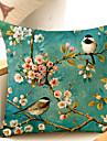 1pcs floare pasăre botanică model pernă de bumbac pernă pernă spate