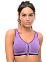 Yoga Sportbehåar Underkläder Överdelar Vattentät dragkedja Andningsfunktion 3D Tablett Sömlös Len Hög Elasisitet Fotbollströjor Yoga