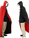 Halloween Costume de îmbrăcăminte mascarada un zeu de vampir mantie moarte roșu și negru față-verso mantie 150cm