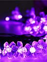 Crăciun lumini solare petale 23ft 50 a condus impermeabil șir de lumina solara in aer liber pentru grădini, nunta, Pom de Crăciun