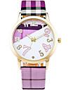 Pentru femei Ceas La Modă Ceas de Mână Ceas Casual Quartz / Piele Bandă Casual Cool Alb Albastru Verde Pink Violet Yellow