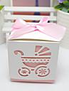Cubic Hârtie cărți de masă Favor Holder cu Panglici Cutii de Savoare Punguțe de Prăjituri Cutii de Cadouri Sticle și Borcane pentru