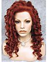 Synthetische Perücken Locken Stil Spitzenfront Perücke Rot Rotbraun Synthetische Haare Rot Perücke Natürliche Perücke