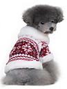 Chien Manteaux Pull Rouge Noir Vêtements pour Chien Hiver Printemps/Automne Motif de flocon de neige Classique Garder au chaud