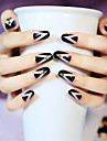 24st / uppsättning nagelband enkla linjer nitning bra mode samlokalisering