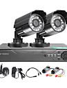 twvision® 4ch hdmi 960h cctv dvr övervakningsinspelare 1000tvl utomhus vattentäta kameror cctv system