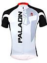 ILPALADINO Maillot de Cyclisme Homme Manches Courtes Velo Maillot Hauts/Top Sechage rapide Resistant aux ultraviolets Zip frontal