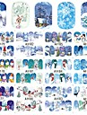 12 designs ,12 different images nagel konst Sticker Vatten Transfer Dekaler skönhet Kosmetisk nagel konst Design