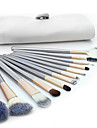 Professionel Make-up pensler Brush Sets 12pcs Fuld Dækning Gedehårs Børste Træ Makeupbørster til Makeupbørstesæt