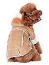 Hund Kappor Huvtröjor Hundkläder Enfärgad Kaffe Vin Mörkbrun Cotton Kostym För husdjur Herr Dam Håller värmen Mode